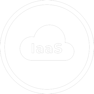 think green iaas infrastructure as a service icon